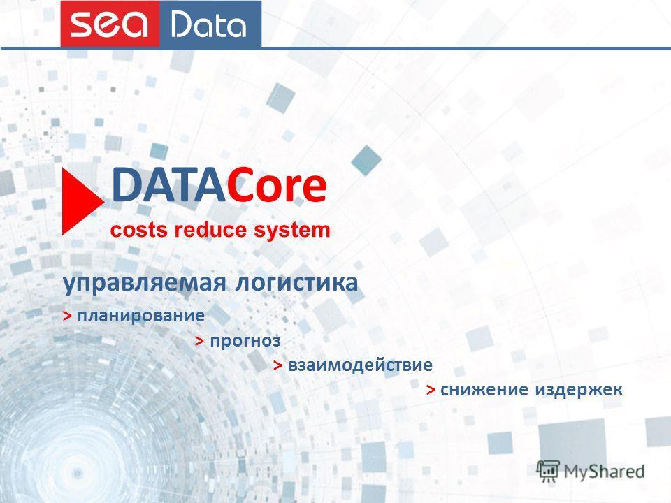 DATACore costs reduce system > планирование > прогноз > взаимодействие > снижение издержек управляемая логистика