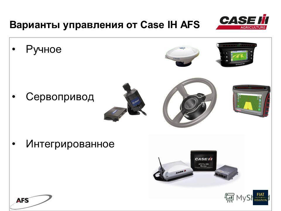Ручное Сервопривод Интегрированное Варианты управления от Case IH AFS
