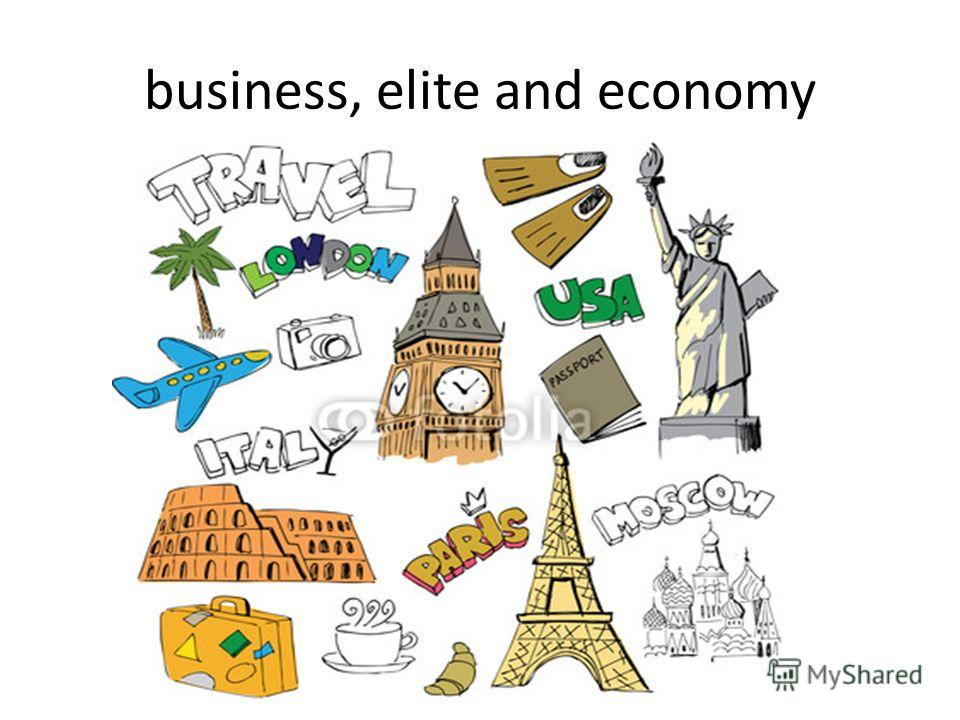 business, elite and economy