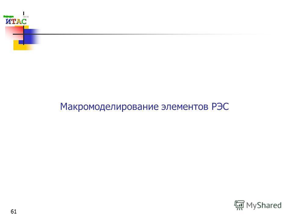 61 Макромоделирование элементов РЭС