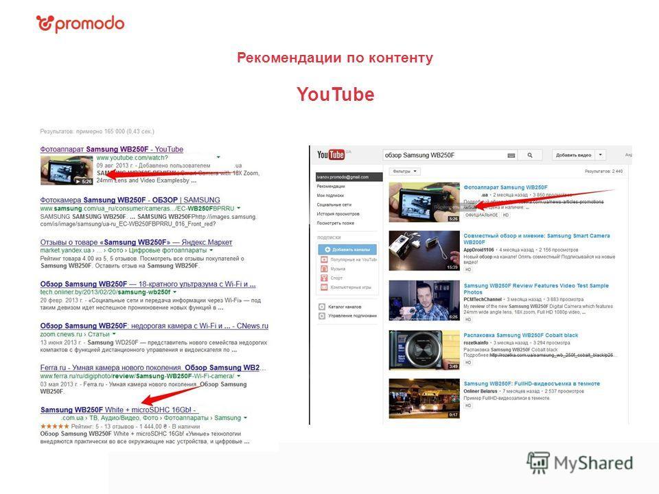 Рекомендации по контенту YouTube