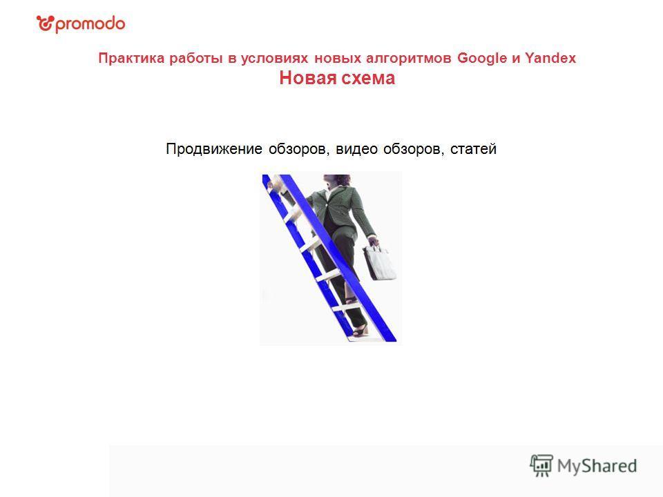 Практика работы в условиях новых алгоритмов Google и Yandex Новая схема