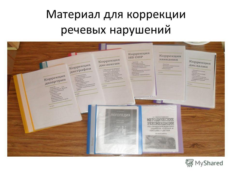 Материал для коррекции речевых нарушений
