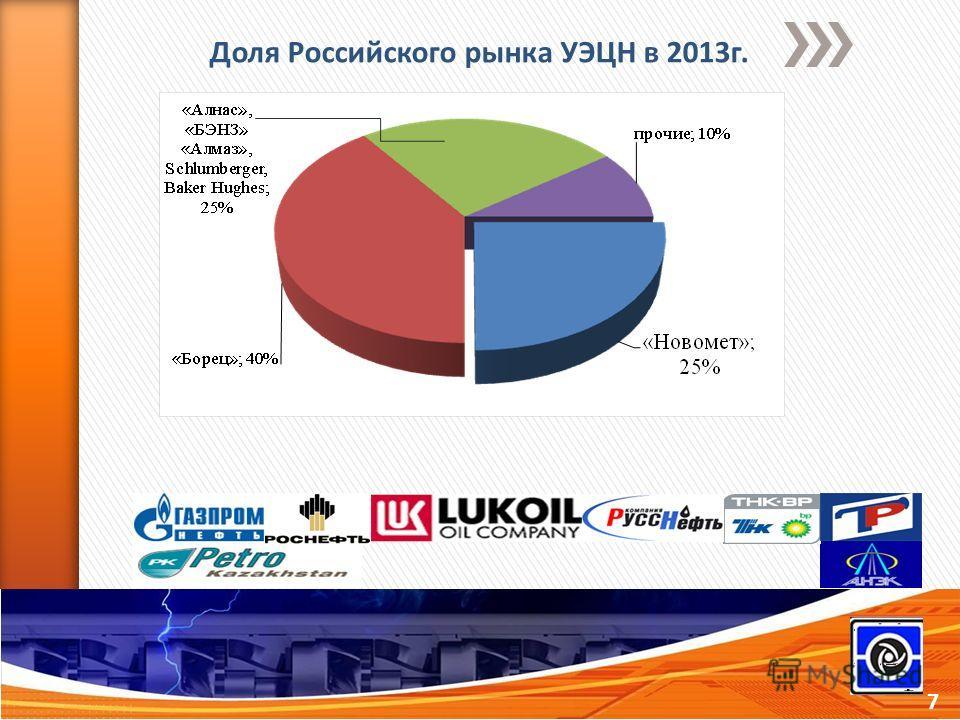 7 Доля Российского рынка УЭЦН в 2013 г.