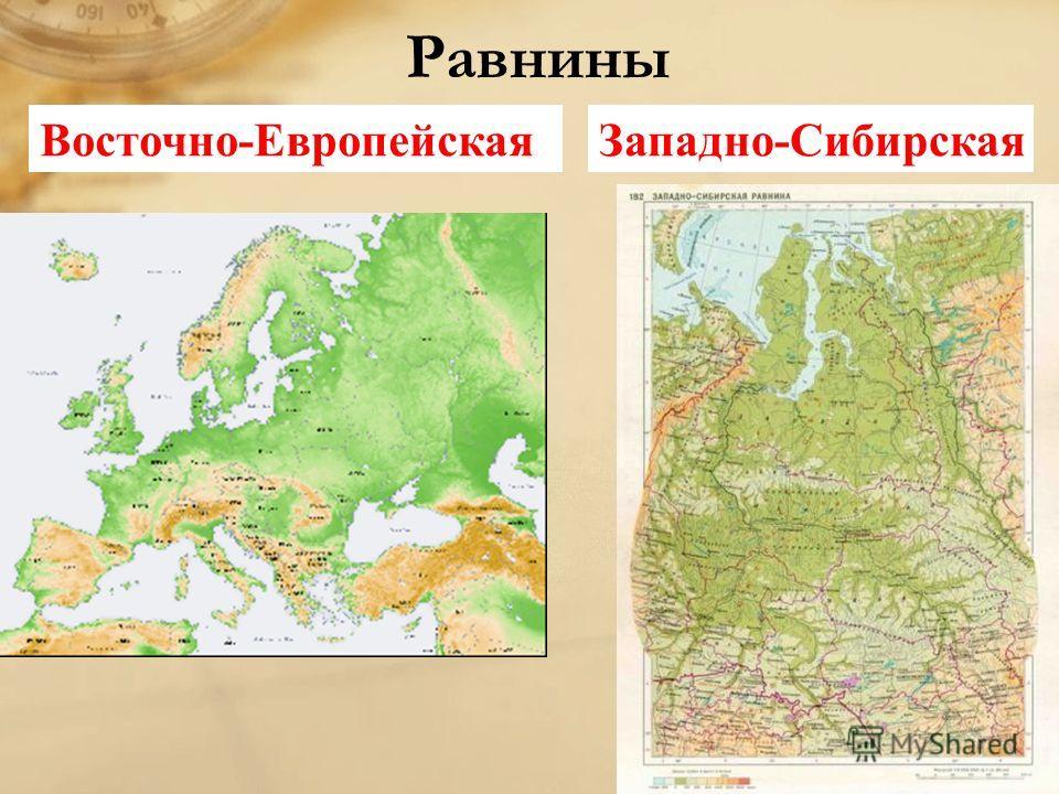 Равнины восточно европейская западно