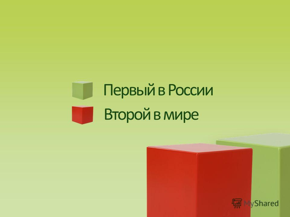 Первый в России Второй в мире