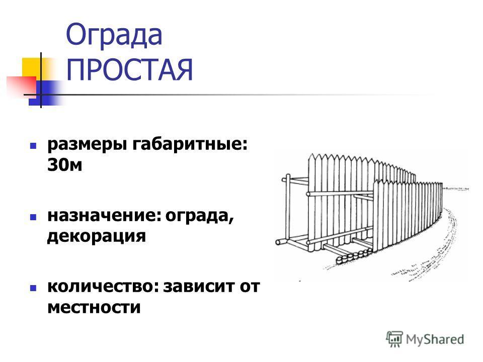 Ограда ПРОСТАЯ размеры габаритные: 30 м назначение: ограда, декорация количество: зависит от местности
