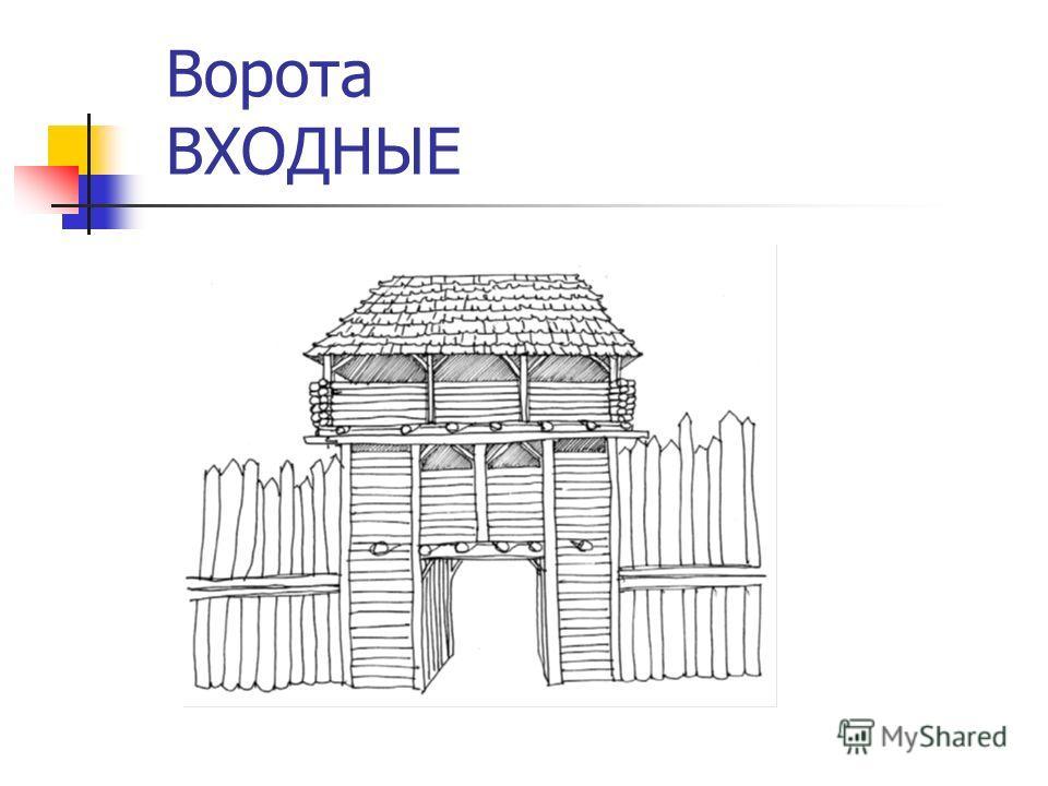 Ворота ВХОДНЫЕ