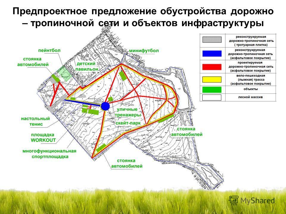 Предпроектное предложение обустройства дорожно – тропиночной сети и объектов инфраструктуры