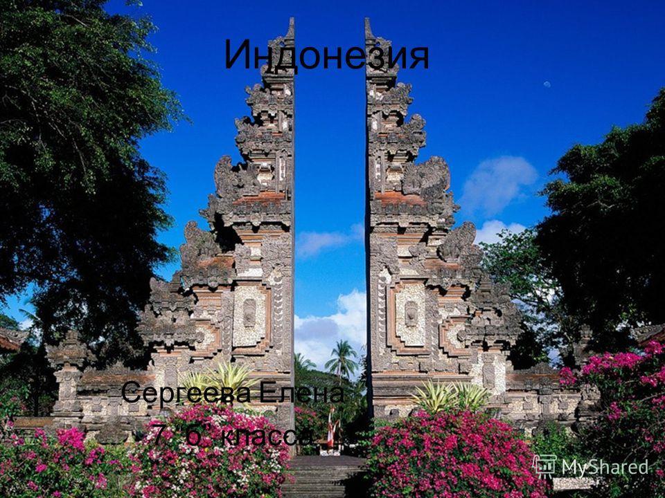 Индонезия Сергеева Елена 7 б класса