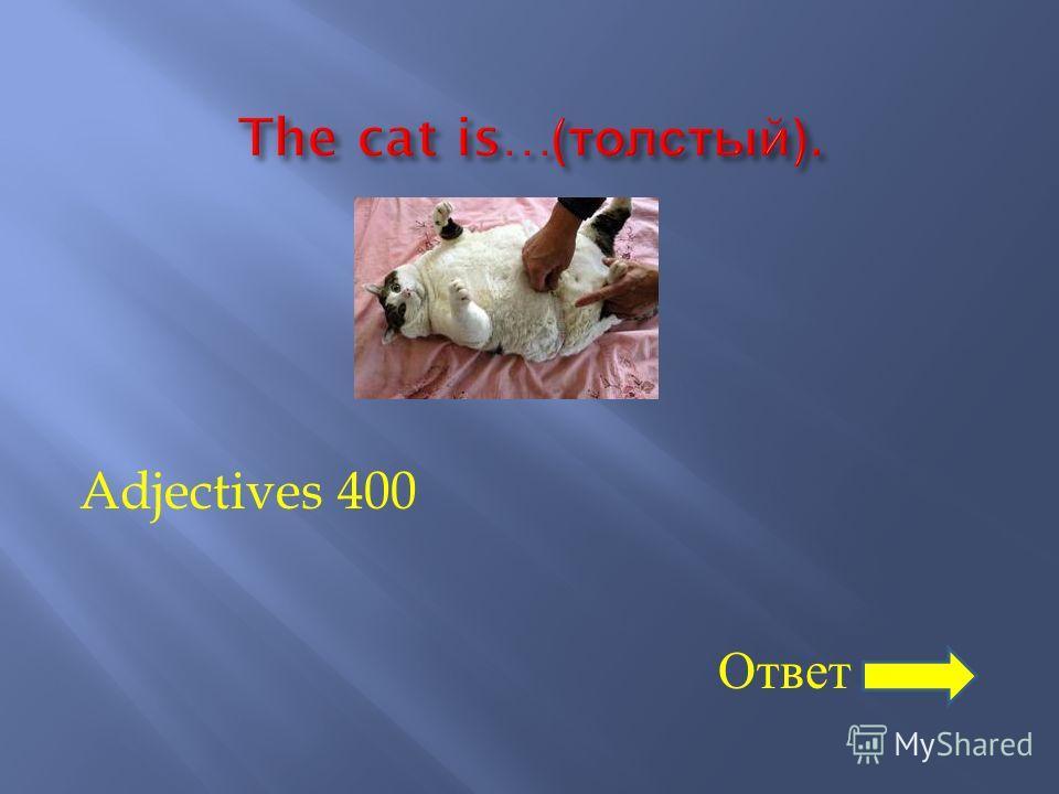 Adjectives 400 Ответ
