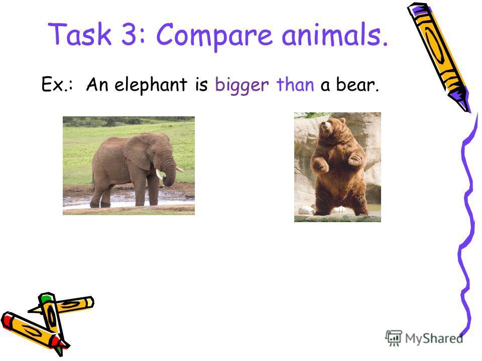 Степени сравнения прилагательных Big – bigger – (the) biggest Long – longer – (the) longest Short – shorter – (the) shortest A wolf is bigger than a hare. A bear is the biggest animal.