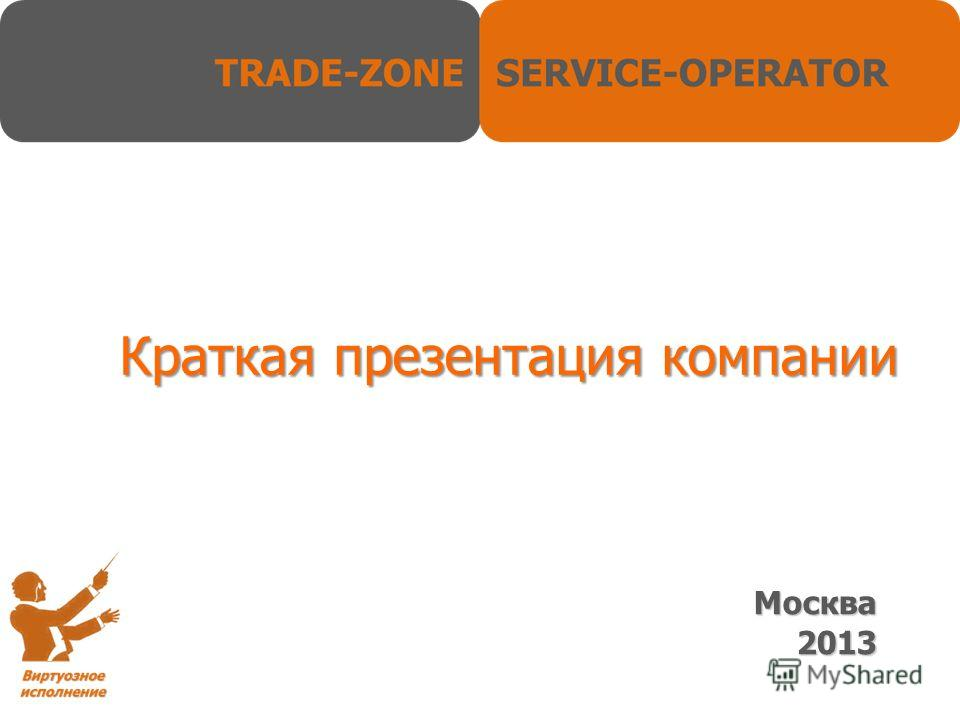 Краткая презентация компании Москва 2013
