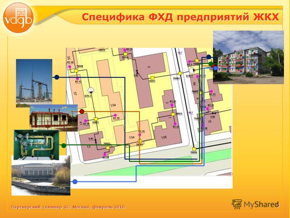 Партнерский семинар 1С: Москва, февраль 2010 Специфика ФХД предприятий ЖКХ 6 6