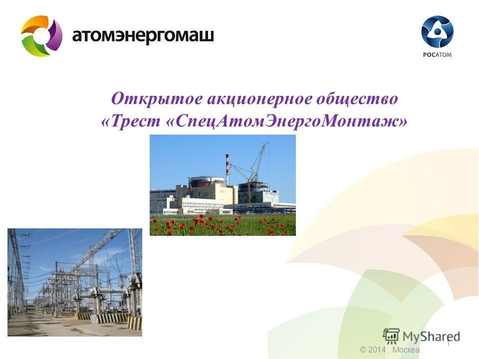 1 © 2014, Москва Открытое акционерное общество «Трест «Спец АтомЭнерго Монтаж»