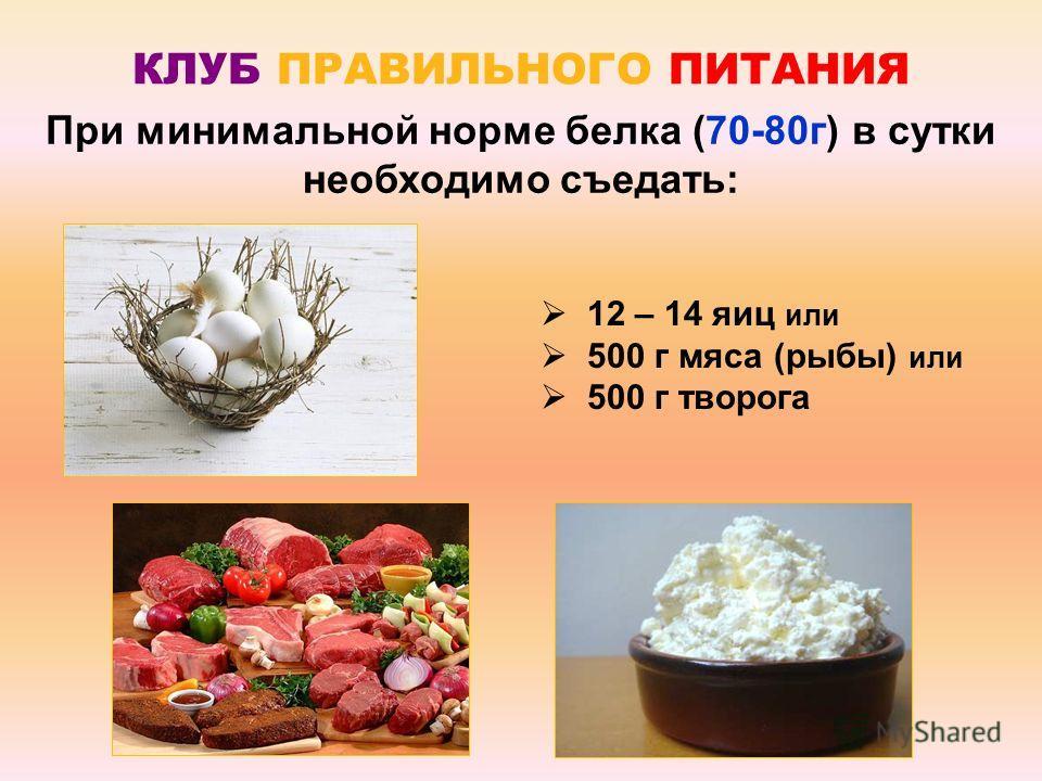 Сколько же нужно съесть продуктов, чтобы накормить свое тело белком?