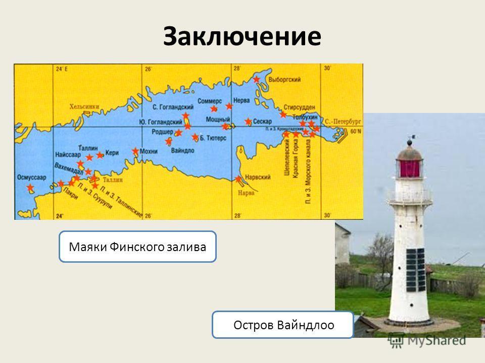 Заключение Остров Вайндлоо Маяки Финского залива