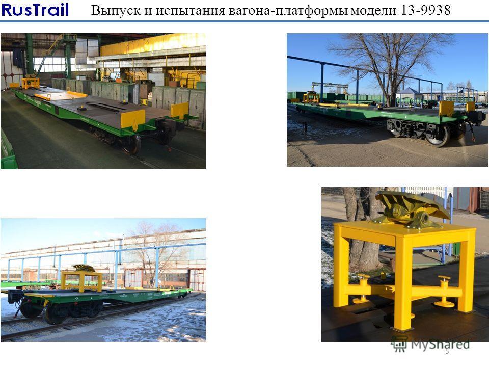 Выпуск и испытания вагона-платформы модели 13-9938 5