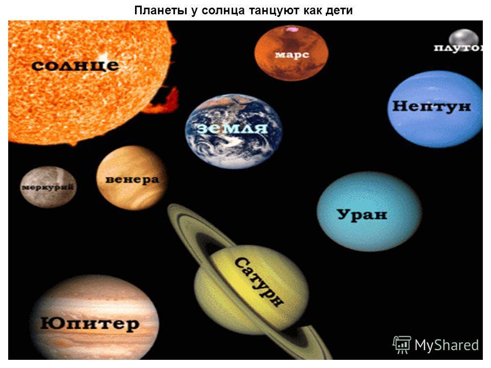 Планеты у солнца танцуют как дети