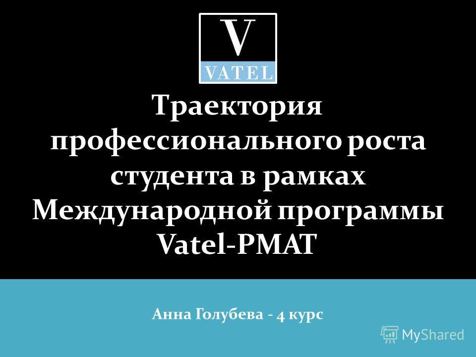 Траектория профессионального роста студента в рамках Международной программы Vatel-РМАТ Анна Голубева - 4 курс