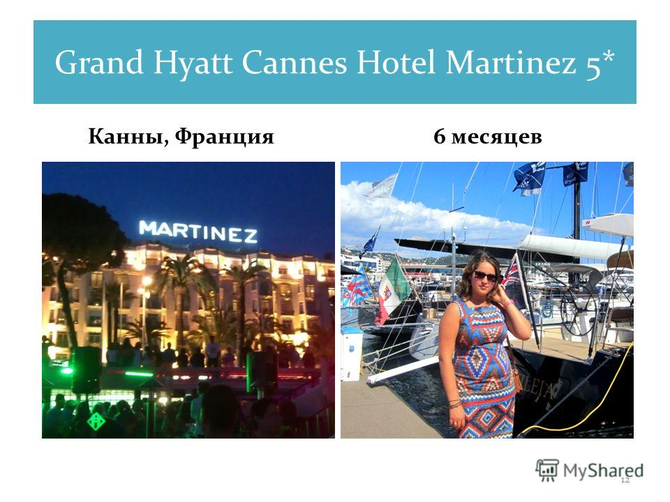 Grand Hyatt Cannes Hotel Martinez 5* Канны, Франция 6 месяцев 12