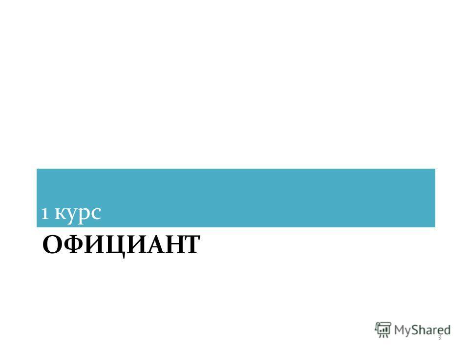 ОФИЦИАНТ 1 курс 3