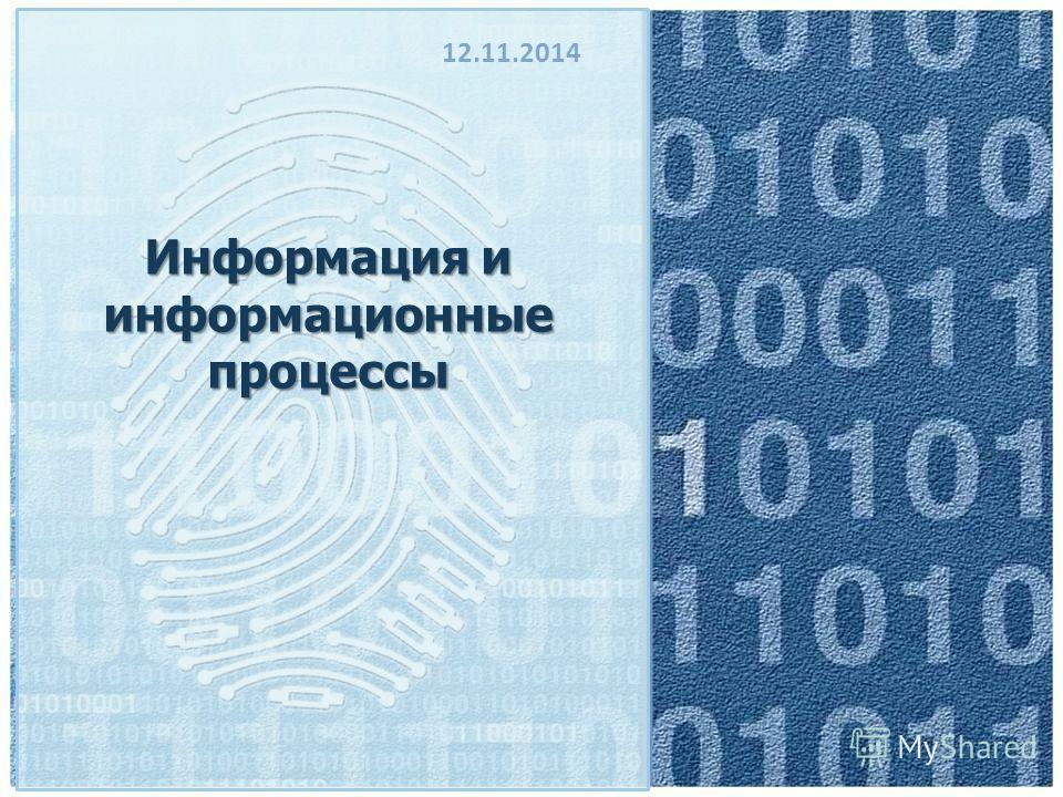 Информация и информационные процессы 12.11.2014