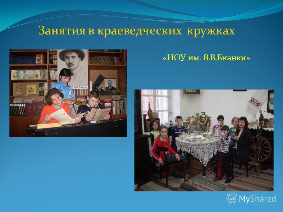 Занятия в краеведческих кружках «НОУ им. В.В.Бианки»