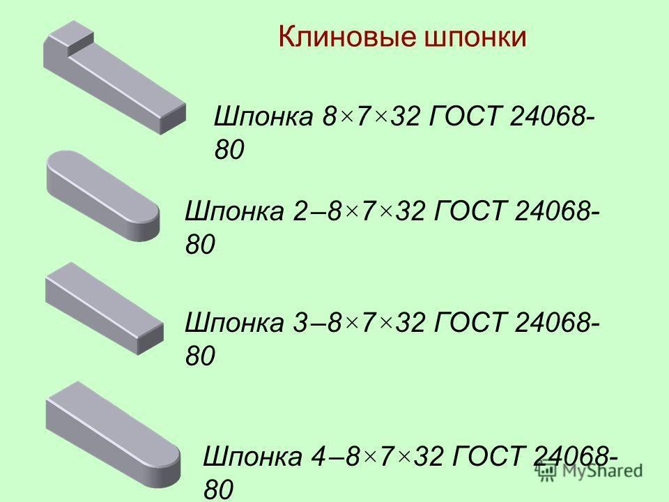 Диаметр вала d Ширина b и высота h шпонки, ширина паза b Диаметр сегмента D Глубина шпоночного паза на валу t 1 Глубина шпоночного паза во втулке t 2 Св. 14 до 164,0 × 7,5196,01,8 Св. 16 до 185,0 × 6,5164,52,3 Св. 18 до 205,0 × 7,5195,52,3 Св. 20 до