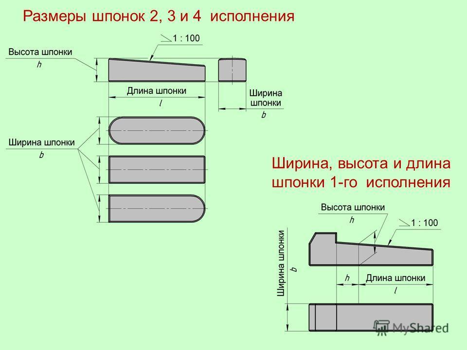 Шпонка 8×7×32 ГОСТ 24068- 80 Шпонка 2 –8×7×32 ГОСТ 24068- 80 Шпонка 3 –8×7×32 ГОСТ 24068- 80 Шпонка 4 –8×7×32 ГОСТ 24068- 80 Клиновые шпонки