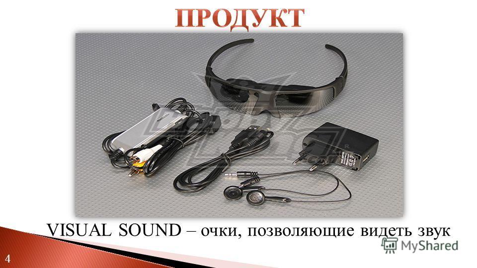 4 VISUAL SOUND – очки, позволяющие видеть звук