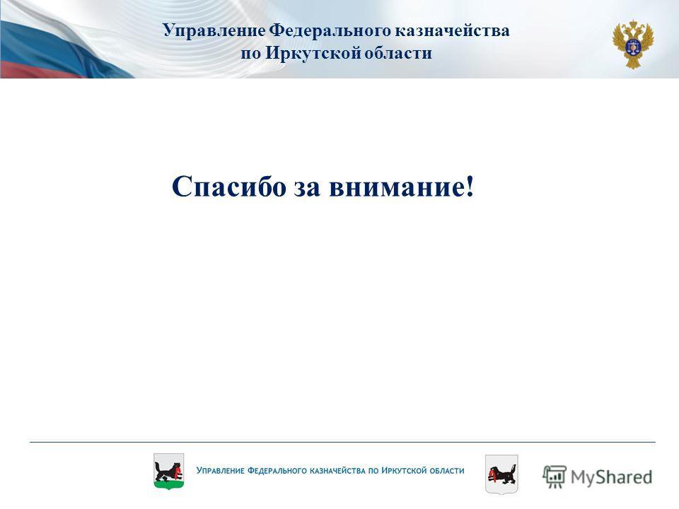 Управление Федерального казначейства по Иркутской области Спасибо за внимание!