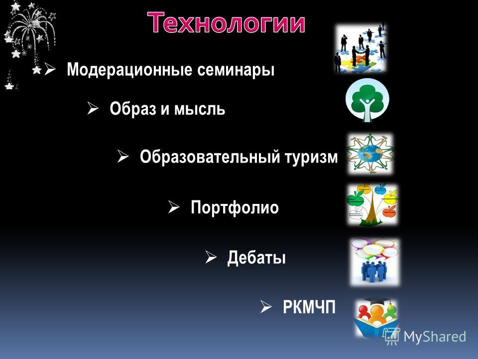 Модерационные семинары Образ и мысль Образовательный туризм РКМЧП Портфолио Дебаты