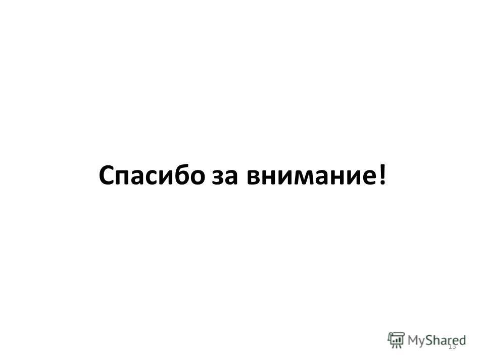 Спасибо за внимание! 13