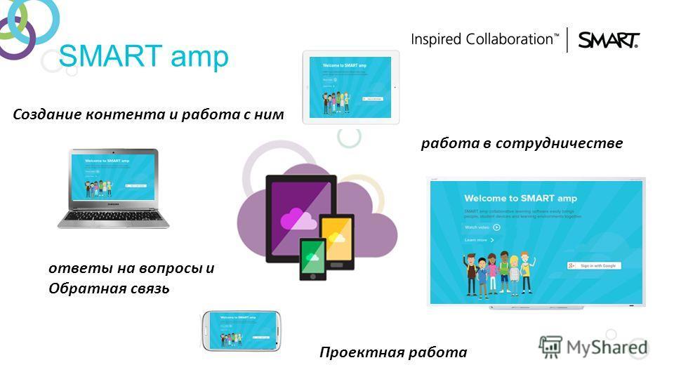 SMART amp Создание контента и работа с ним работа в сотрудничестве ответы на вопросы и Обратная связь Проектная работа
