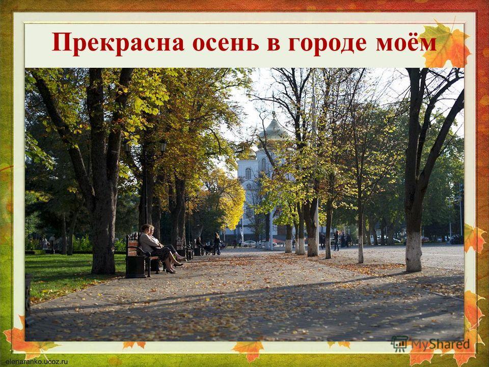 Прекрасна осень в городе моём