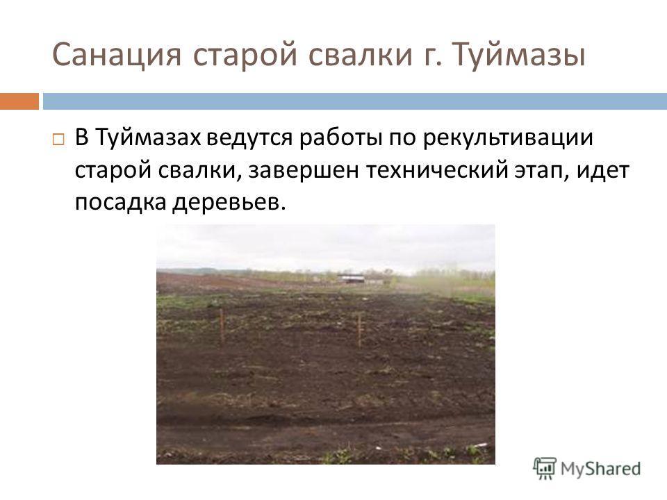 Санация старой свалки г. Туймазы В Туймазах ведутся работы по рекультивации старой свалки, завершен технический этап, идет посадка деревьев.