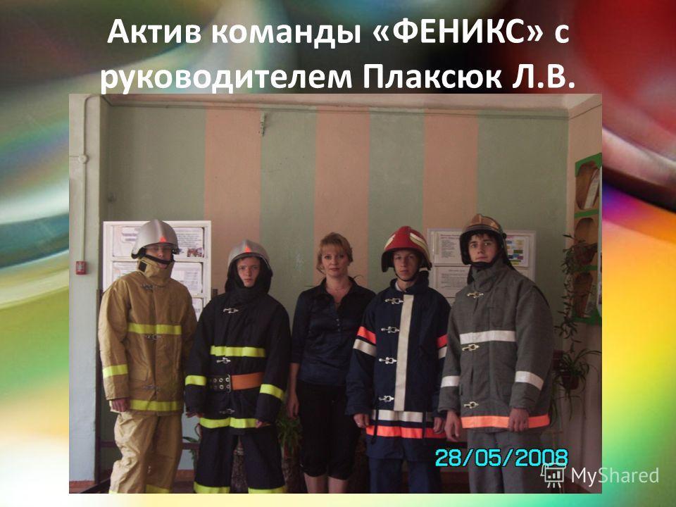 Актив команды «ФЕНИКС» с руководителем Плаксюк Л.В.