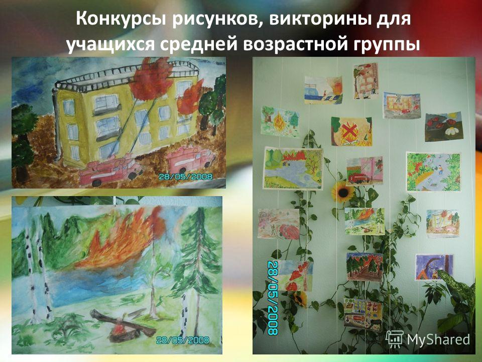 Конкурсы рисунков, викторины для учащихся средней возрастной группы
