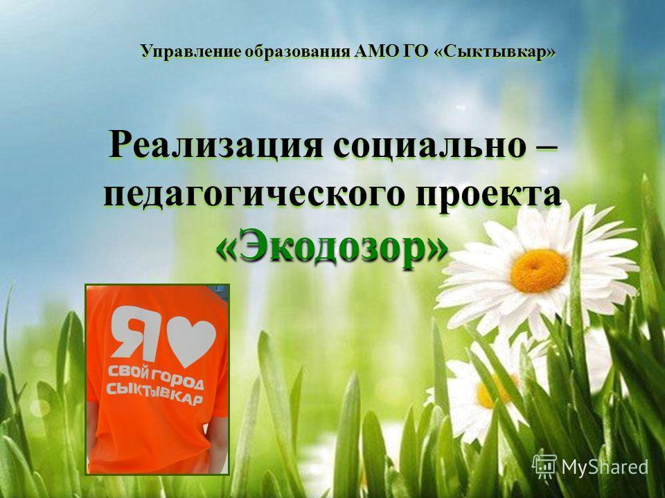 Реализация социально – педагогического проекта «Экодозор» Управление образования АМО ГО «Сыктывкар»
