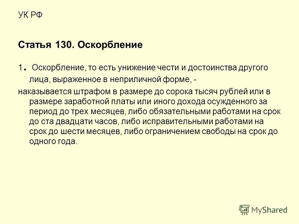 Статья 130 ук рф размер штрафа