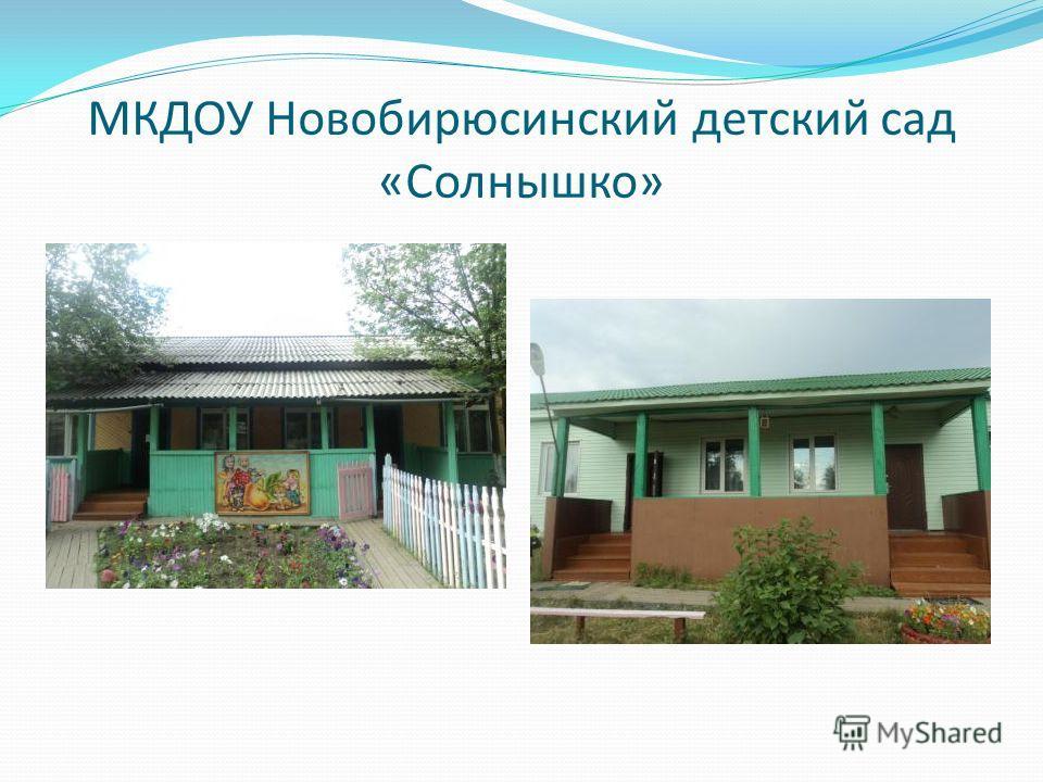МКДОУ Новобирюсинский детский сад «Солнышко»