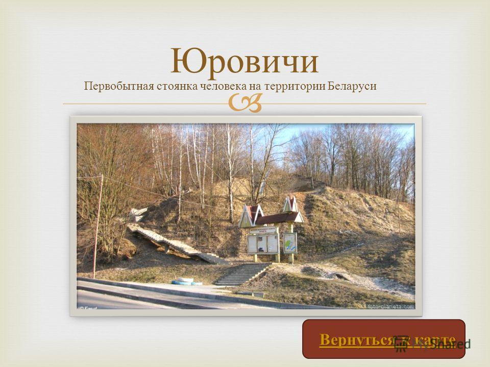 Юровичи Первобытная стоянка человека на территории Беларуси