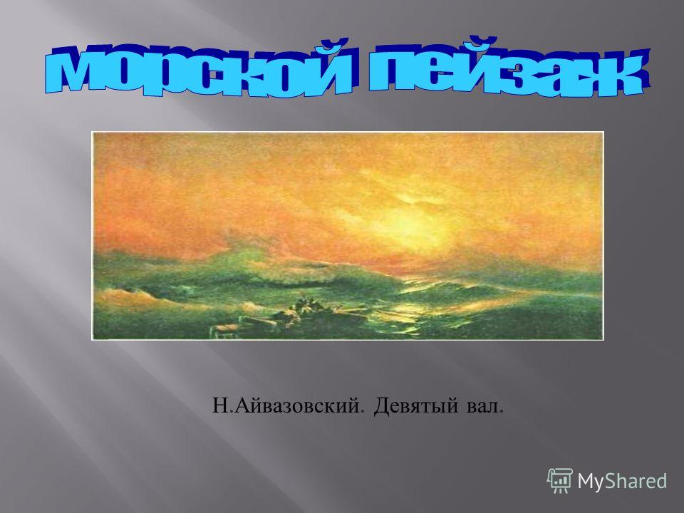 Н. Айвазовский. Девятый вал.