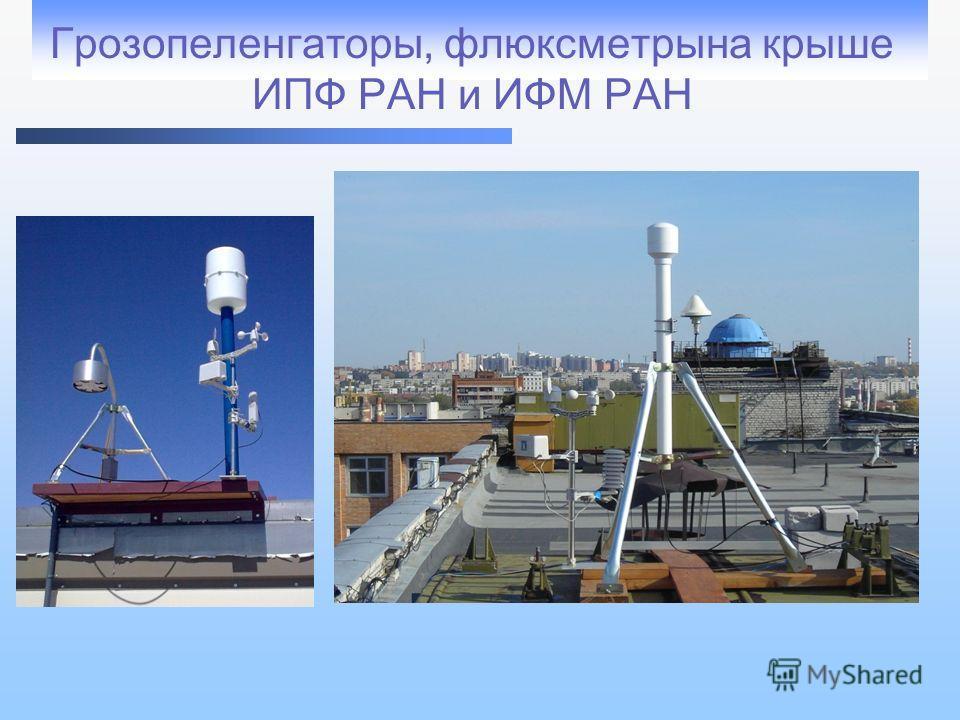 Грозопеленгатор ы, флюксметры на крыше ИПФ РАН и ИФМ РАН