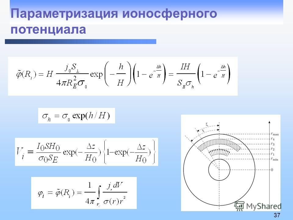 37 Параметризация ионосферного потенциала