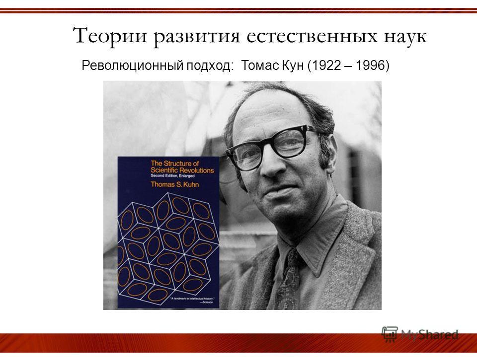 Теории развития естественных наук Революционный подход: Томас Кун (1922 – 1996)