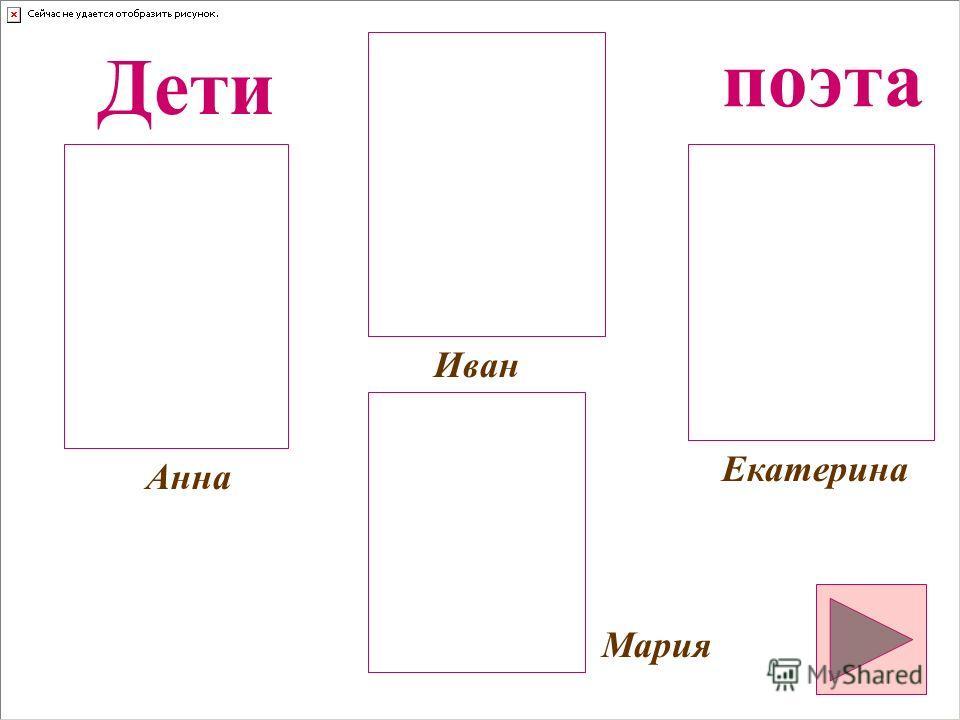 Анна Екатерина Иван Мария Дети поэта