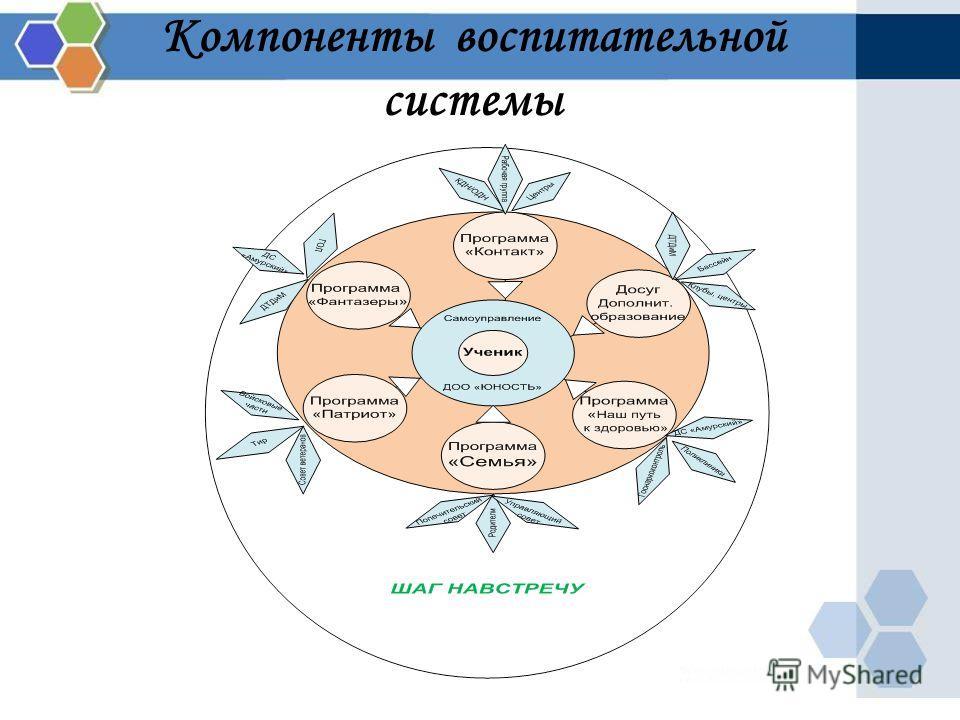 Компоненты воспитательной системы