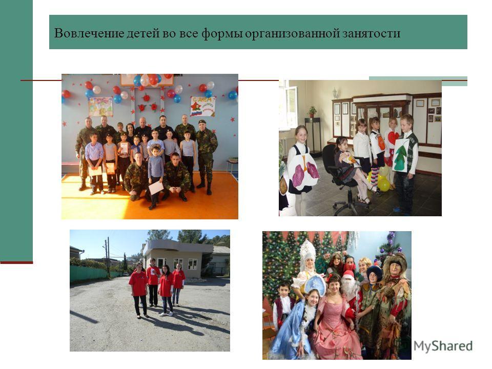 Вовлечение детей во все формы организованной занятости